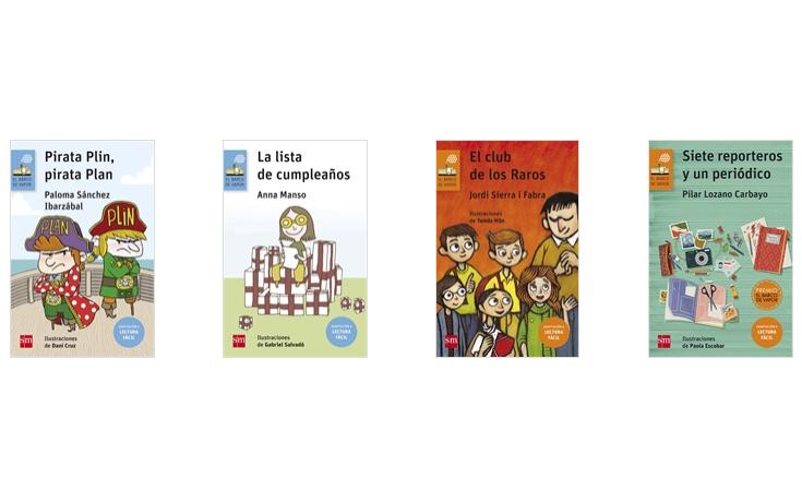 Portadas de los 4 libros del Barco de Vapor