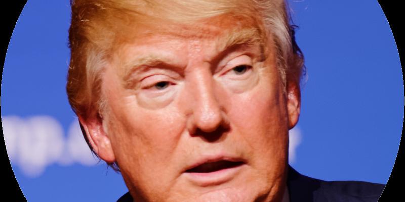 En esta imagen se puede ver a Donald Trump
