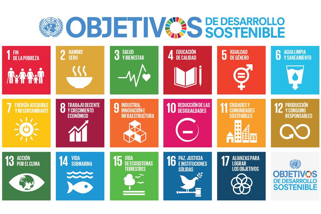 En esta imagen se puede ver los objetivos de desarrollo sostenible