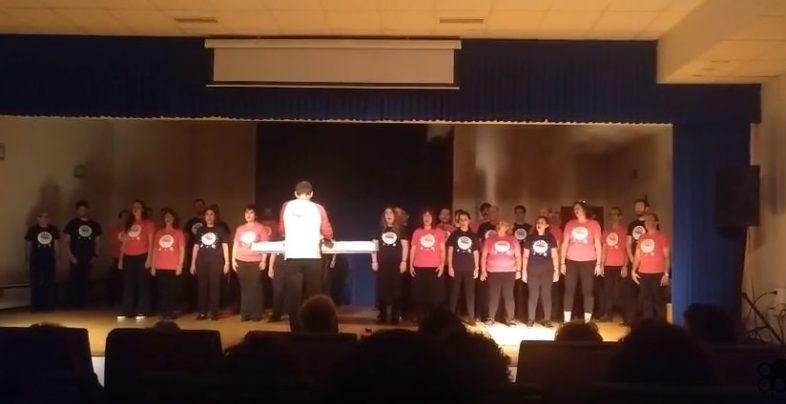 Coro durante un concierto