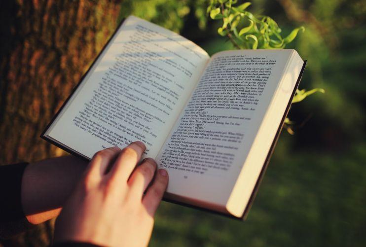 Una persona lee un libro