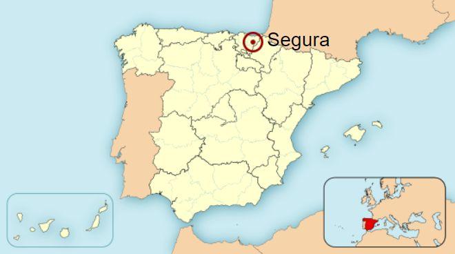 Segura en el mapa de España