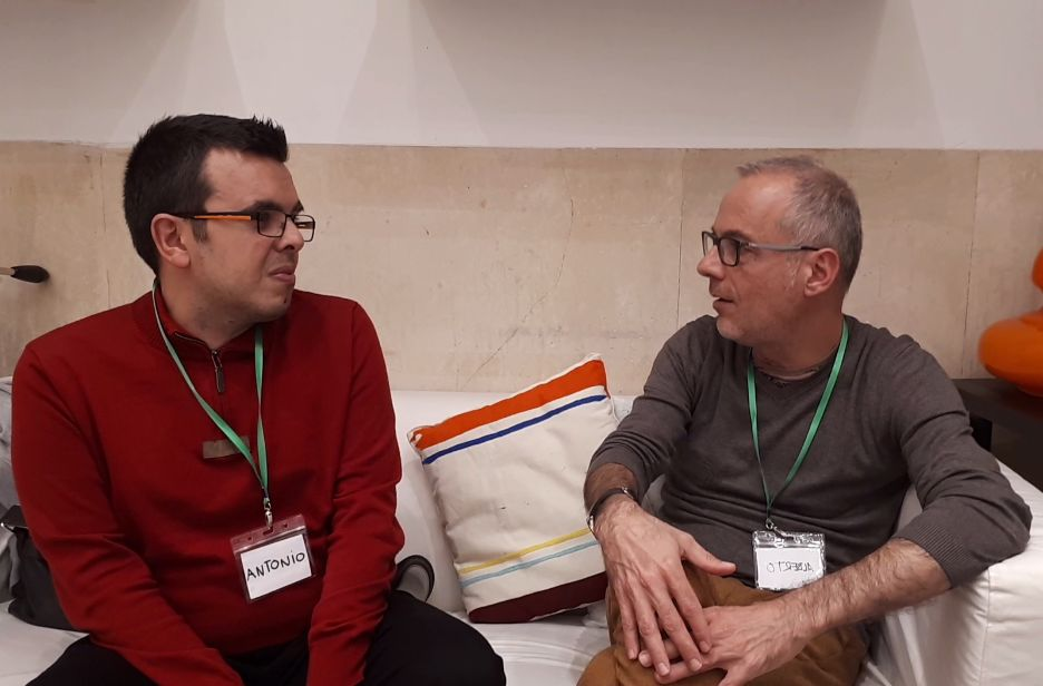 Antonio Hinojosa con Alberto de Arches