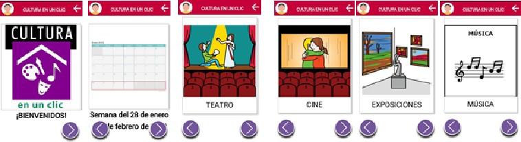 captura de pantalla apoyo acceso a la cultura