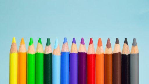 lápices de muchos colores