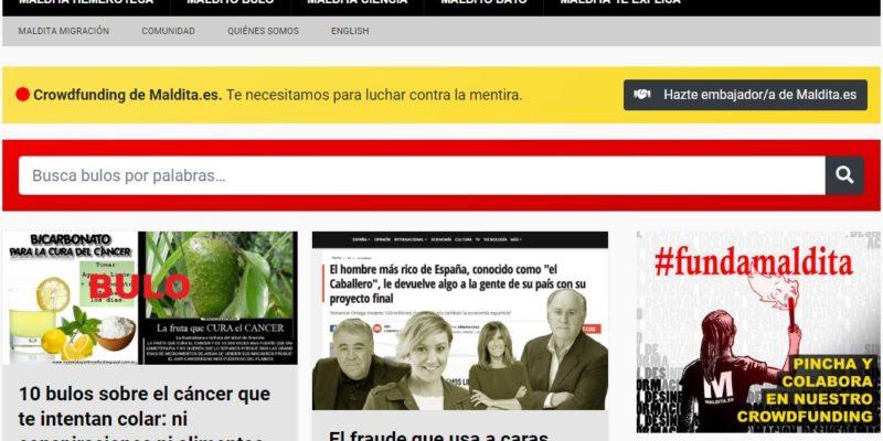 portada de la web maldita.es