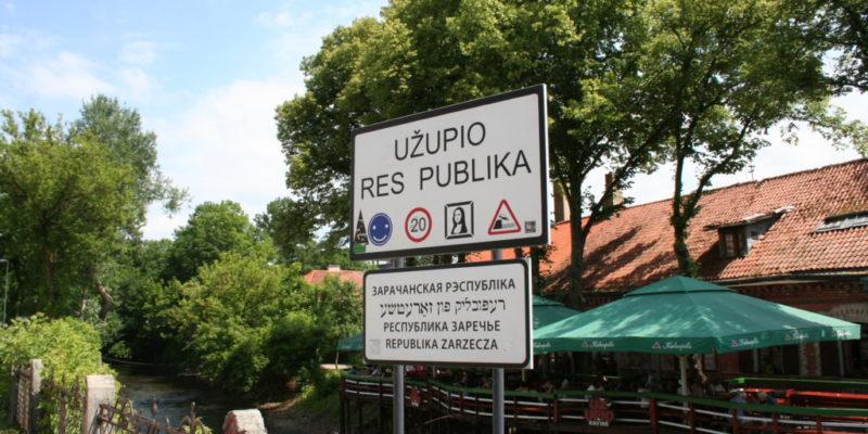 cartel de la república independiente de Uzupis