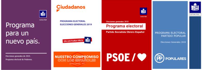 portadas programas electorales varios