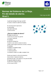 portada - Medidas COVID Fin Estado de Alarma La Rioja