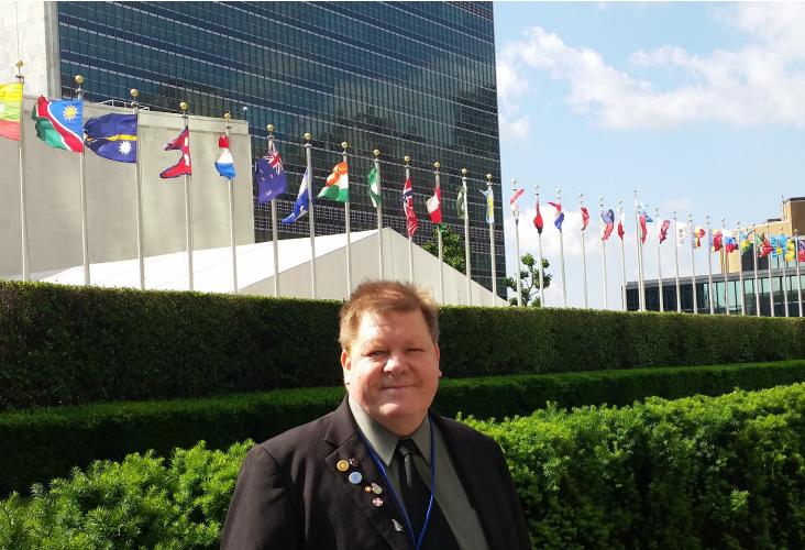 Robert Martín en el Comité de las Naciones Unidas