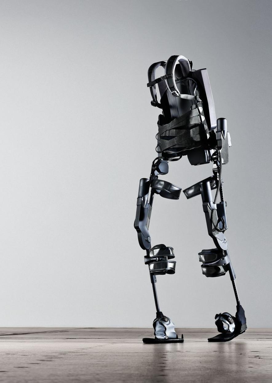 En esta imagen se puede ver un exoesqueleto