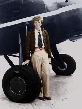 amelia earhart ante avión