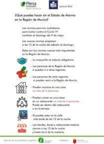 Plena inclusión Región de Murcia. Fin del estado de alarma